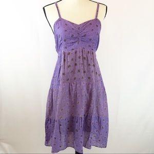 Kaaku Purple Boho Style Summer Dress